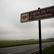 A sign showing the front line on the 1st of September 1916 <br /> The Battle of ‪Pozi&egrave;res‬ was a two week struggle (23 July &ndash; 7 August 1916) by British and Australian divisions for the capture of the village of Pozieres during  the 1916 battle of the Somme.