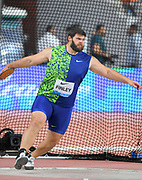 Mason Finley (USA) places seventh in the discus at 208-5 (63.52m) during the IAAF Doha Diamond League 2019 at Khalifa International Stadium, Friday, May 3, 2019, in Doha, Qatar (Jiro Mochizuki/Image of Sport)