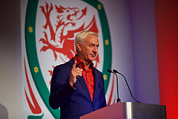 NEWPORT, WALES - Saturday, May 19, 2018: Welsh Football Trust Elite Performance Director Ian Rush speaks during the Football Association of Wales Under-16's Caps Presentation at the Celtic Manor Resort. (Pic by David Rawcliffe/Propaganda)