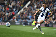 West Bromwich Albion defender Kieran Gibbs (3) gets in a cross during the EFL Sky Bet Championship match between West Bromwich Albion and Rotherham United at The Hawthorns, West Bromwich, England on 27 April 2019.
