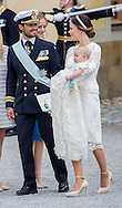 Stockholm , 09-09-2016<br /> <br /> Christening of Prince Alexander of Sweden, son of Prince Carl Philip and Princess Sofia at Drottningholm Palace.<br /> <br /> <br /> <br /> Royalportraits Europe/Bernard Ruebsamen