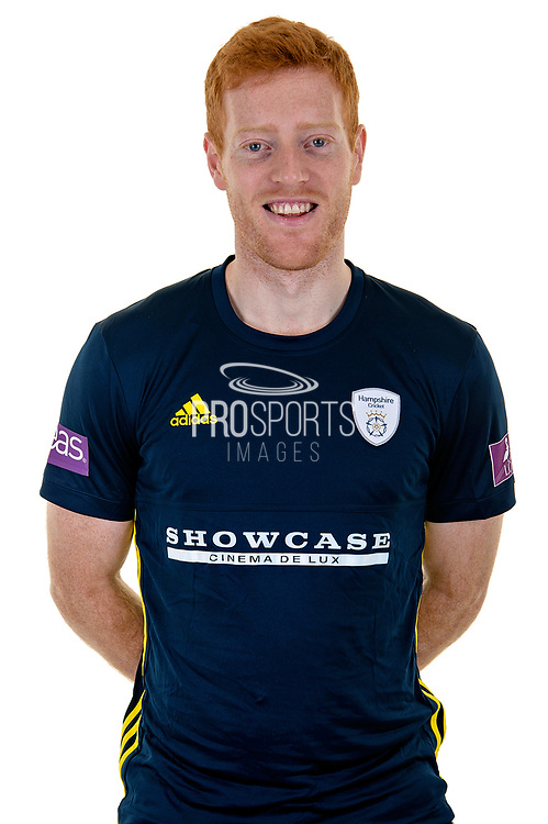 Ryan Stevenson of Hampshire in Royal London One Day Cup kit  during the Hampshire County Cricket Club Media Day at the Ageas Bowl, Southampton, United Kingdom on 10 April 2018. Picture by Dave Vokes.