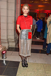 Pixie Geldof at the Mary Quant VIP Preview at The Victoria & Albert Museum, London, England. 03 April 2019. <br /> <br /> ***For fees please contact us prior to publication***