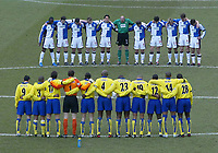 Photo. Andrew Unwin. Digitalsport<br /> Blackburn Rovers v Arsenal, Barclaycard Premier League, Ewood Park, Blackburn 13/03/2004.<br /> Arsenal and Blackburn line up for a minute's silence to show their respects for the tragedy in Spain. Martin Andresen