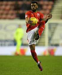 Tareiq Holmes-Dennis of Huddersfield Town appears to handle the ball - Mandatory by-line: Jack Phillips/JMP - 02/01/2017 - FOOTBALL - DW Stadium - Wigan, England - Wigan Athletic v Huddersfield Town - Football League Championship
