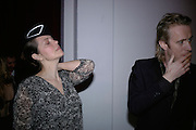 Greta Scacchi and Rhys Ifans,  Whitechapel and Hogan present Art Pls Drama Party 2007. Whitechapel Gallery. London. 8 March 2007. -DO NOT ARCHIVE-© Copyright Photograph by Dafydd Jones. 248 Clapham Rd. London SW9 0PZ. Tel 0207 820 0771. www.dafjones.com.
