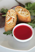 Chinese Eggroll with sweet and sour sauce