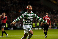 Photo: Jed Wee.<br /> Glasgow Celtic v FC Copenhagen. UEFA Champions League, Group F. 26/09/2006.<br /> <br /> Celtic's Kenny Miller celebrates after scoring from the penalty spot.
