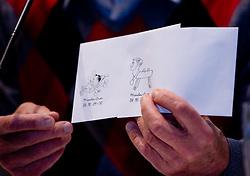 "Envelopes with Miro Cerar at presentation of a new book of one of the best Slovenian gymnast Miro Cerar named ""Miroslav Cerar in njegov cas - Miroslav Cerar and his time"" at his 70 years anniversary, on October 30, 2009, in Hotel Mons, Ljubljana, Slovenia.   (Photo by Vid Ponikvar / Sportida)"