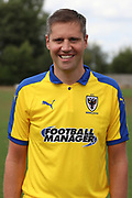 AFC Wimbledon Kitman Robin Bedford during the AFC Wimbledon 2018/19 official photocall at the Kings Sports Ground, New Malden, United Kingdom on 31 July 2018. Picture by Matthew Redman.