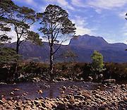 Ben Slioch from the shore of Loch Maree, Torridon, N/W Highlands.