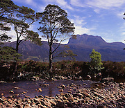 Ben Slioch from the shore of Loch Maree, Torridon, N/W Highlands.