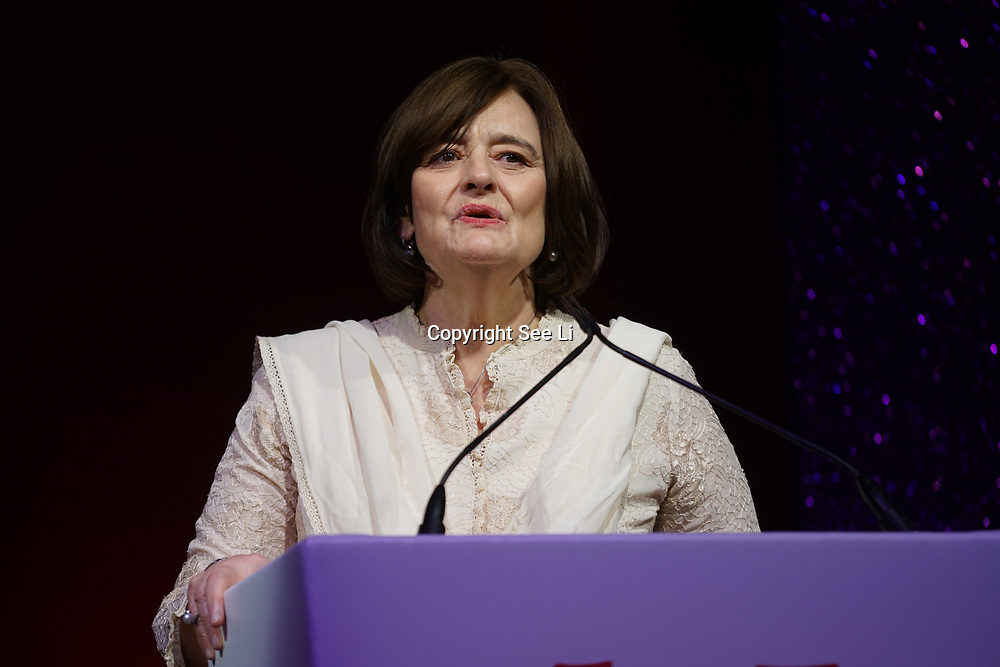 London, UK. 10th May 2017. Cherie Blair attend The Asian Women of Achievement Awards 2017 at the London Hilton on Park Lane Hotel. Photo by See li Credit: See Li