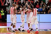 Jeremy Simmons<br /> L.J. Peak<br /> Jason Clark<br /> Openjobmetis Varese - Carpegna Prosciutto Basket Pesaro<br /> Basket Serie A LBA 2019/2020<br /> Varese 15 December 2019<br /> Foto Mattia Ozbot / Ciamillo-Castoria