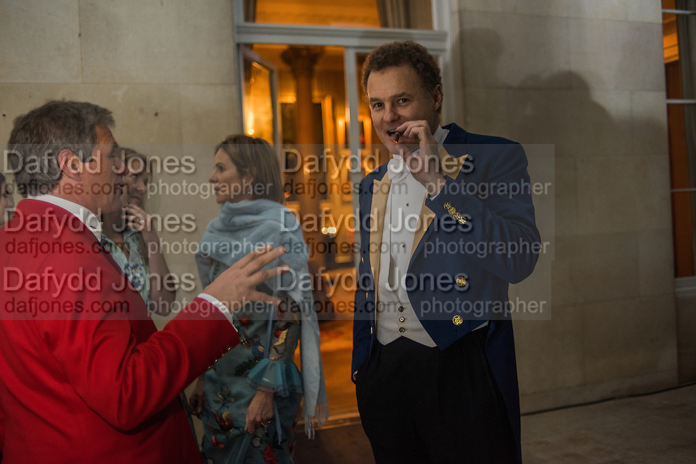 CHARLES GORDON-WATSON; LADY ROTHERMERE; ; LORD ROTHERMERE Charlton Hunt Ball at Goodwood House.  6 February 2016