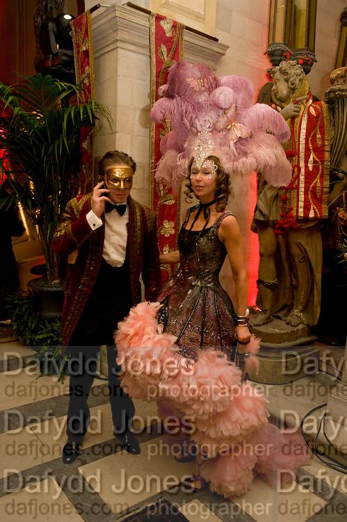 ALESSANDRO  Bortolotto Possati; Francesca Bortolotto Possati, Alessandro and Olimpia host Carnevale 2009. Venetian Red Passion. Palazzo Mocenigo. Venice. February 14 2009.  *** Local Caption *** -DO NOT ARCHIVE -Copyright Photograph by Dafydd Jones. 248 Clapham Rd. London SW9 0PZ. Tel 0207 820 0771. www.dafjones.com<br /> ALESSANDRO  Bortolotto Possati; Francesca Bortolotto Possati, Alessandro and Olimpia host Carnevale 2009. Venetian Red Passion. Palazzo Mocenigo. Venice. February 14 2009.