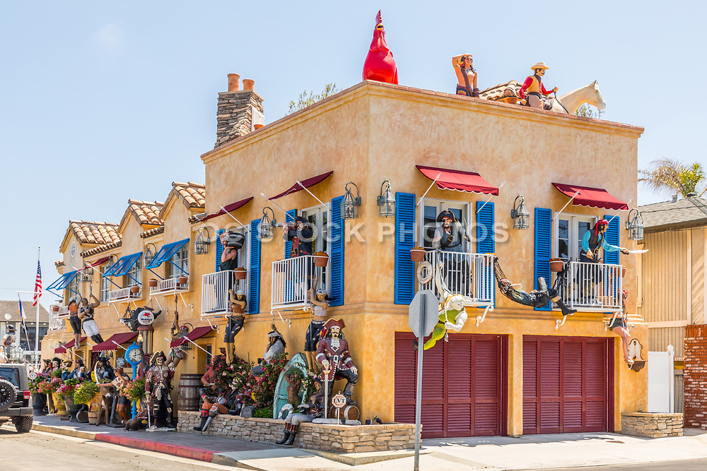 Pirate Decorated House on 35th St. and Marcus Ave. on Balboa Peninsula