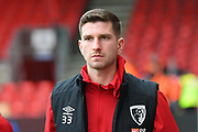 Chris Mepham (33) of AFC Bournemouth arrives ahead of the Premier League match between Bournemouth and Liverpool at the Vitality Stadium, Bournemouth, England on 7 December 2019.