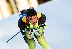 Rok Trsan (SLO) in action during the Men 10km Sprint at day 6 of IBU Biathlon World Cup 2018/19 Pokljuka, on December 7, 2018 in Rudno polje, Pokljuka, Pokljuka, Slovenia. Photo by Vid Ponikvar / Sportida