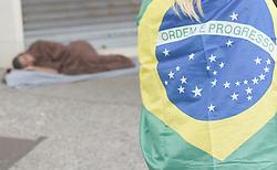 May 26, 2019 - Rio De Janeiro, RIO DE JANEIRO, BRAZIL - May 26..Protest in favor of President Jair Bolsonaro in Copacabana, south zone of the city...........May 26.., 2019.. Rio De Janeiro, : Fabio Teixeira / ZUMA Wire) (Credit Image: © Fabio Teixeira/ZUMA Wire)