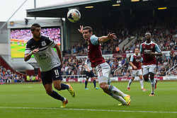 Everton's Kevin Mirallas and West Ham United's Matthew Jarvis compete for the ball - Photo mandatory by-line: Mitch Gunn/JMP - Tel: Mobile: 07966 386802 21/09/2013 - SPORT - FOOTBALL - Boleyn Ground - London - West Ham United V Everton - Barclays Premier League