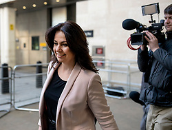 © Licensed to London News Pictures. 24/02/2019. London, UK. Former Conservative MP Heidi Allen, who resigned from the part to join The Independent Group, leaves BBC Broadcasting House after appearing on The Andrew Marr Show. Photo credit: Rob Pinney/LNP
