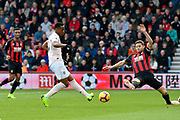 Goal - Anthony Martial (11) of Manchester United scores the equalising goal to make the score 1-1 during the Premier League match between Bournemouth and Manchester United at the Vitality Stadium, Bournemouth, England on 3 November 2018.