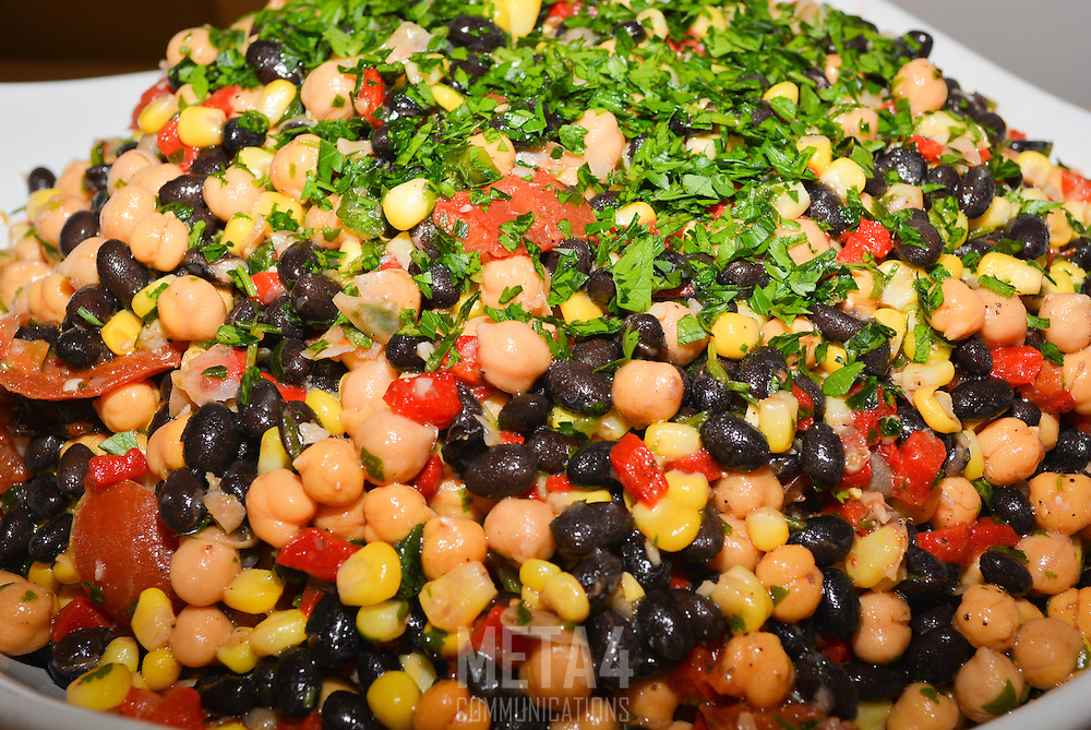 Colorful beans make the perfect appetizer.