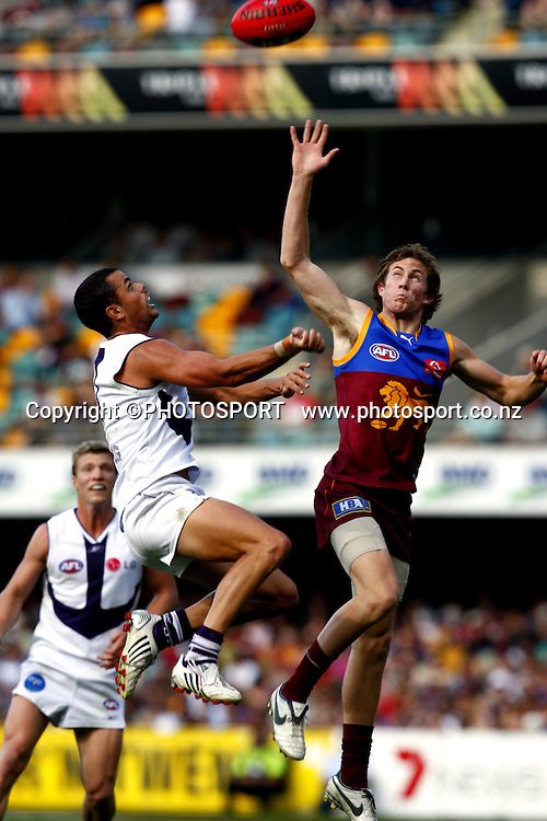 AFL, Brisbane Lions v Geelong, May 3 2008. Photo: PHOTOSPORT
