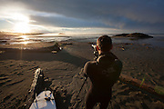 Leon, Photographer, Surf, Surfing West Coast, Sunrise, Tofino, British Columbia, Canada