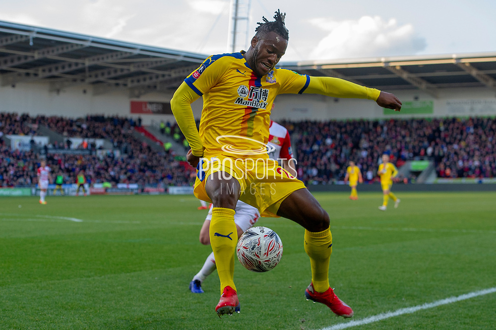 Crystal Palace forward Michy Batshuayi (23) during the The FA Cup 5th round match between Doncaster Rovers and Crystal Palace at the Keepmoat Stadium, Doncaster, England on 17 February 2019.