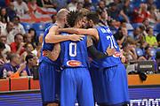 Marco Cusin,\ Daniel Hackett, Luigi Datome<br /> Nazionale Italiana Maschile Senior<br /> Eurobasket 2017 - Group Phase<br /> Georgia - Italia<br /> FIP 2017<br /> Tel Aviv, 02/09/2017<br /> Foto Ciamillo - Castoria/ M.Longo