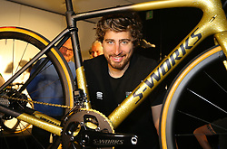 March 31, 2018 - Sint-Martens-Latem, BELGIUM - Slovakian Peter Sagan of Bora-Hansgrohe poses during a press conference, Saturday 31 March 2018, ahead of Sunday's 'Ronde van Vlaanderen 2018 - Tour des Flandres - Tour of Flanders' one day cycling race...BELGA PHOTO NICOLAS MAETERLINCK (Credit Image: © Nicolas Maeterlinck/Belga via ZUMA Press)