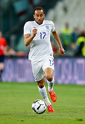 Andros Townsend of England in action - Photo mandatory by-line: Rogan Thomson/JMP - 07966 386802 - 31/03/2015 - SPORT - FOOTBALL - Turin, Italy - Juventus Stadium - Italy v England - FIFA International Friendly Match.