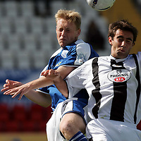 St Mirren v St Johnstone...21.08.04<br />Simon Lappin is beaten by St Johnstone trialist Stephen Anderson<br /><br />Picture by Graeme Hart.<br />Copyright Perthshire Picture Agency<br />Tel: 01738 623350  Mobile: 07990 594431