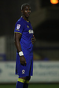 AFC Wimbledon striker Tom Elliott (9) during the EFL Trophy match between AFC Wimbledon and U23 Brighton and Hove Albion at the Cherry Red Records Stadium, Kingston, England on 6 December 2016.