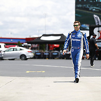 May 25, 2017 - Concord, NC, USA: Ricky Stenhouse Jr. (17) hangs out in the garage during practice for the Coca Cola 600 at Charlotte Motor Speedway in Concord, NC.