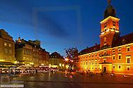 Polen, Warschau Schlossplatz mit Koenigsschloss