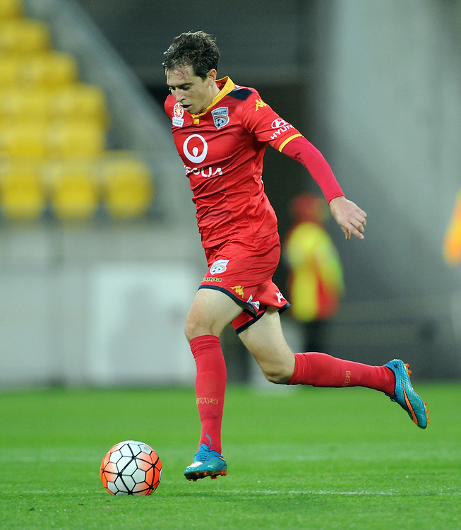 Adelaide United's Craig Goodwin against the Phoenix in the A-League football match at Westpac Stadium, Wellington, New Zealand, Saturday, March 05, 2016. Credit:SNPA / Ross Setford