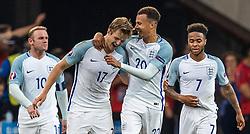 11-06-2016 FRA: UEFA EURO Engeland - Rusland, Marseille<br /> Engeland speelt gelijk tegen Rusland 1-1 / Goal Celebration England Eric Dier (ENG) Wayne Rooney (ENG) Dele Alli (ENG) Raheem Sterling (ENG) <br /> <br /> ***NETHERLANDS ONLY***