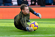 Bernd Leno (19) of Arsenal warming up before the Premier League match between Bournemouth and Arsenal at the Vitality Stadium, Bournemouth, England on 25 November 2018.