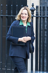 Downing Street, London, January 17th 2017. Home Secretary Amber Rudd arrives at the weekly cabinet meeting at 10 Downing Street.