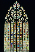 Stained glass window at York Minster Cathedral, York, Northern England, United Kingdom