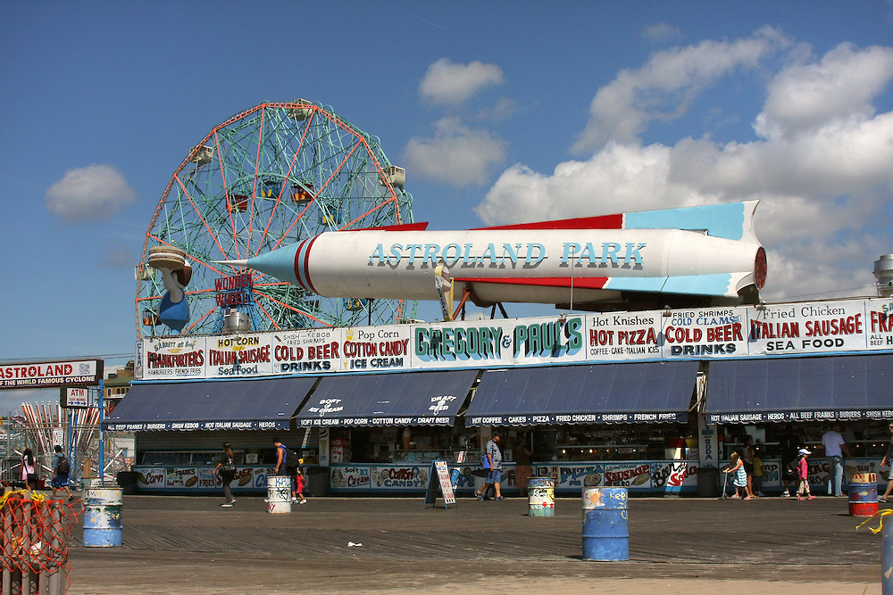 """The old """"Astroland"""" as viewed from the boardwalk."""