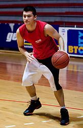 Tim Skerbec at practice of KK Slovan basketball team, on February 3, 2010 in Arena Kodeljevo, Ljubljana, Slovenia.  (Photo by Vid Ponikvar / Sportida)