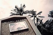 Image of record high temperatures in South Beach, Miami, Florida, American Southeast, east coast heat wave  (toned black & white conversion)