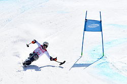 RABL Roman LW12-1 AUT competing in ParaSkiAlpin, Para Alpine Skiing, Super G at PyeongChang2018 Winter Paralympic Games, South Korea.
