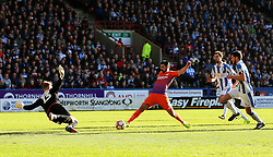 Nolito of Manchester City fires a shot at goal  - Mandatory by-line: Matt McNulty/JMP - 18/02/2017 - FOOTBALL - The John Smith's Stadium - Huddersfield, England - Huddersfield Town v Manchester City - Emirates FA Cup fifth round