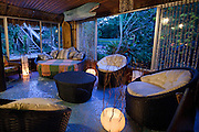 Ad Campaign: Evening in the lounge at Grajagan Resort, Ilha do Mel, Brazil