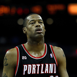 March 30, 2011; New Orleans, LA, USA; Portland Trail Blazers power forward Marcus Camby (23) against the New Orleans Hornets during the first half at the New Orleans Arena.    Mandatory Credit: Derick E. Hingle